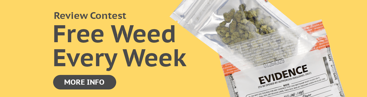 Free Weed Contest Banner
